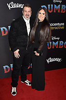HOLLYWOOD, CA - MARCH 11: Joey Fatone (L) and Izabel Araujo attend the premiere of Disney's 'Dumbo' at El Capitan Theatre on March 11, 2019 in Los Angeles, California.<br /> CAP/ROT/TM<br /> &copy;TM/ROT/Capital Pictures