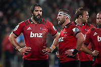 Crusaders' Sam Whitelock and Kieran Read during the 2019 Super Rugby final between the Crusaders and Jaguares at Orangetheory Stadium in Christchurch, New Zealand on Saturday, 6 July 2019. Photo: Joe Johnson / lintottphoto.co.nz