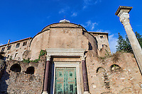 Santi Cosma e Damiano church located in  in the Roman Forum, Rome, Italy