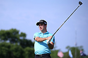 4th June 2017, Dublin, OH, USA;  Nick Taylor hits a drive on the first hole during the final round of The Memorial Tournament  at the Muirfield Village Golf Club in Dublin, OH.