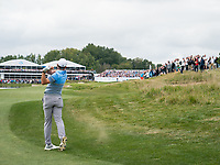 Sergio Garcia (ESP) in action on the 18th hole during the final round at the KLM Open, The International, Amsterdam, Badhoevedorp, Netherlands. 15/09/19.<br /> Picture Stefano Di Maria / Golffile.ie<br /> <br /> All photo usage must carry mandatory copyright credit (© Golffile | Stefano Di Maria)