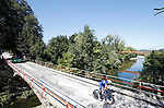Quick-Step Floors rider in action during Stage 16 of the La Vuelta 2018, an individual time trial running 32km from Santillana del Mar to Torrelavega, Spain. 11th September 2018.                                                                              Picture: Unipublic/Photogomezsport | Cyclefile<br /> <br /> <br /> All photos usage must carry mandatory copyright credit (&copy; Cyclefile | Unipublic/Photogomezsport)