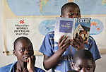 A student reads aloud during a primary school class in Zombwe, Malawi.