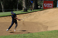 Sean Crocker (USA) in action on the 1st during Round 2 Matchplay of the ISPS Handa World Super 6 Perth at Lake Karrinyup Country Club on the Sunday 11th February 2018.<br /> Picture:  Thos Caffrey / www.golffile.ie<br /> <br /> All photo usage must carry mandatory copyright credit (&copy; Golffile   Thos Caffrey)