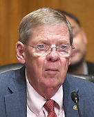 """United States Senator Johnny Isakson (Republican of Georgia) listens during a US Senate Committee on Finance hearing on """"Individual Tax Reform"""" on Capitol Hill in Washington, DC on Thursday, September 14, 2017.<br /> Credit: Ron Sachs / CNP"""