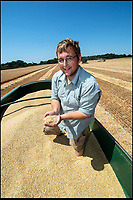 BNPS.co.uk (01202 558833)<br /> Pic: PhilYeomans/BNPS<br /> <br /> Estate manager Sam Mitchell.<br /> <br /> The heatwave has caused an almost unheard of June harvest at a British farm.<br /> <br /> Bisterne Estate in Ringwood, Hants, produces seed barley, milling wheat and biscuit rye.<br /> <br /> Farm manager Martin Button says this is the earliest harvest there since 1976.<br /> <br /> They began harvesting their 750 acres of arable land on June 28, two weeks earlier than normal.<br /> <br /> However, they are expecting a significantly reduced yield as the barley grain is much smaller than in a typical year, which was been attributed to the dry summer.<br /> <br /> He said: &quot;We've never started in June in the 30 years I've been here.<br /> <br /> &quot;The earliest I can remember is July 2, and we would normally start the harvest between the 12th and 14th of July.