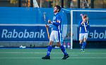 UTRECHT - Vreugde bij Robbert Kemperman (Kampong) na  de hoofdklasse hockeywedstrijd mannen, Kampong-Amsterdam (4-3).  COPYRIGHT KOEN SUYK