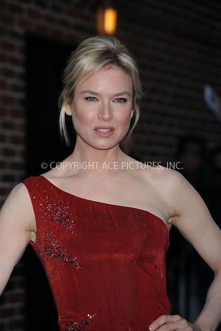 WWW.ACEPIXS.COM . . . . .  ....January 29 2009, New York City....Actress Renee Zellweger made an appearance at the 'Late Show with David Letterman' at the Ed Sullivan Theater on January 29, 2009 in New York City.......Please byline: KRISTIN CALLAHAN - ACEPIXS.COM.... *** ***..Ace Pictures, Inc:  ..tel: (212) 243 8787..e-mail: info@acepixs.com..web: http://www.acepixs.com