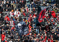 WASHINGTON, DC - FEBRUARY 29: D.C United fans in the new standing section of the stadium during a game between Colorado Rapids and D.C. United at Audi Field on February 29, 2020 in Washington, DC.