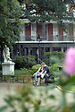 A couple relaxes in Jackson Square, New Orleans, Tues., Nov. 6, 2007.