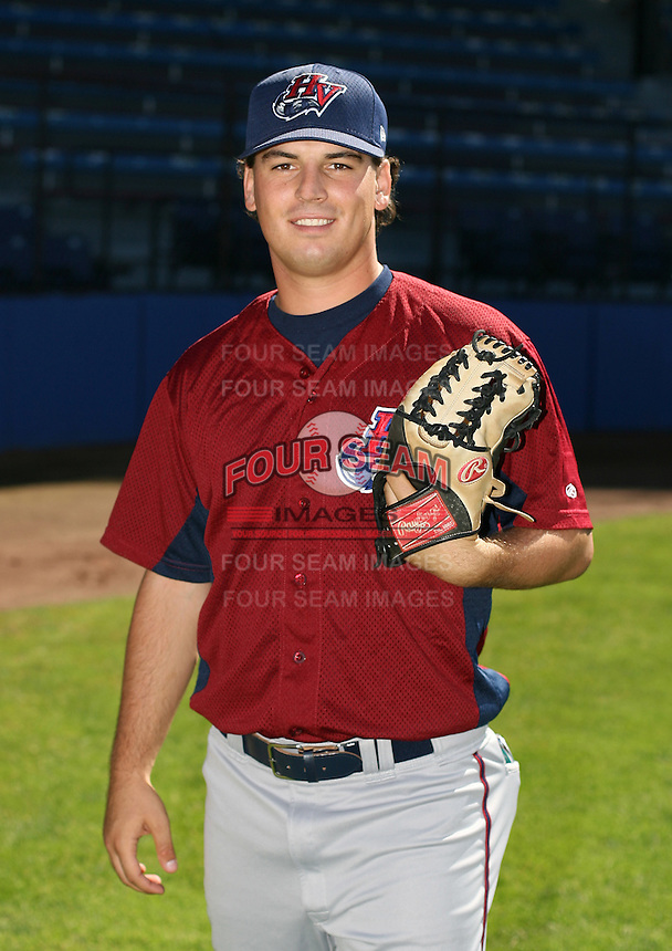 Ryan Zimmerman of the Hudson Valley Renegades, Class-A affiliate of the Tampa Bay Devil Rays, during New York-Penn League baseball action.  Photo by Mike Janes/Four Seam Images