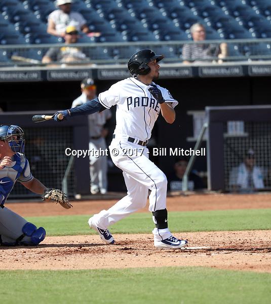 Javier Guerra - Peoria Javelinas - 2017 Arizona Fall League (Bill Mitchell)
