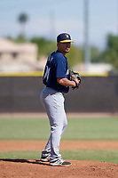 Milwaukee Brewers pitcher Daniel Brown (94) prepares to deliver a pitch to the plate during an Instructional League game against the San Diego Padres on September 27, 2017 at Peoria Sports Complex in Peoria, Arizona. (Zachary Lucy/Four Seam Images)