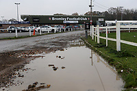General view from the car park of the main entrance into the ground during Bromley vs Dagenham & Redbridge, Vanarama National League Football at the H2T Group Stadium on 24th November 2018