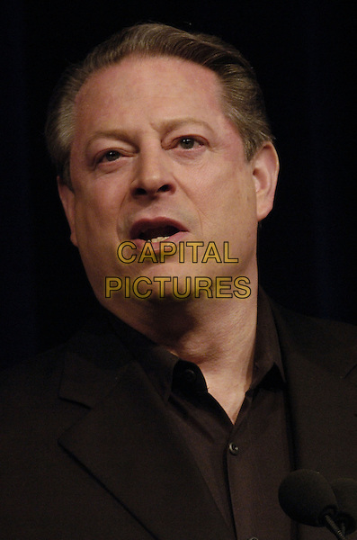 AL GORE.SOS opening night press conference for the Tribeca Film Festival at the BMCC/Tribecca Performing Arts Center, New York, New York, USA..April 25th, 2007.headshot portrait mouth open .CAP/ADM/BL.©Bill Lyons/AdMedia/Capital Pictures *** Local Caption ***