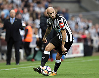 Newcastle United's Jonjo Shelvey<br /> <br /> Photographer Rich Linley/CameraSport<br /> <br /> The Premier League -  Newcastle United v Liverpool - Sunday 1st October 2017 - St James' Park - Newcastle<br /> <br /> World Copyright &copy; 2017 CameraSport. All rights reserved. 43 Linden Ave. Countesthorpe. Leicester. England. LE8 5PG - Tel: +44 (0) 116 277 4147 - admin@camerasport.com - www.camerasport.com