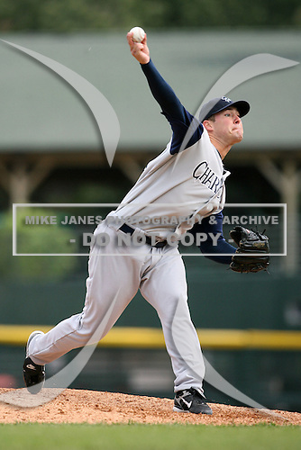 May 10, 2009:  Starting Pitcher Justin Cassel of the Charlotte Knights, Triple-A International League affiliate of the Chicago White Sox, delivers a pitch during a game at Frontier Field in Rochester, NY.  Photo by:  Mike Janes/Four Seam Images