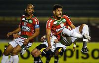 SAO PAULO SP, 31 Julho 2013 - PORTUGUESA  X CRICIUMA -  Jogadores da Portuguesa durante partida contra o Criciuma valida pelo campeonato brasileiro de 2013  no Estadio do Caninde em  Sao Paulo, nesta quarta, 31. (FOTO: ALAN MORICI / BRAZIL PHOTO PRESS).