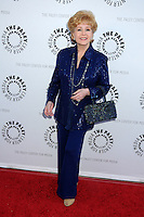 """28 December 2016 - Debbie Reynolds, the Oscar-nominated """"Singin' in the Rain,""""  singer-actress who was the mother of late actress Carrie Fisher, has died. She was 84. """"She wanted to be with Carrie,"""" her son Todd Fisher told Variety. She was taken to the hospital from Todd Fisher's Beverly Hills house Wednesday after a suspected stroke, the day after her daughter Carrie Fisher died. File Photo: 7 June 2011 - Beverly Hills, California - Debbie Reynolds. Debbie Reynolds' Hollywood Memorabilia Exhibit Reception Presented by Turner Classic Movies and The Paley Center for Media held at The Paley Center. Photo Credit: Byron Purvis/AdMedia"""