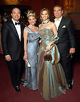 S. Scott Gaille and his wife Sharon with Gabriela and Daniel Dror at the Ballet Ball at the Wortham Theater Saturday Feb. 21, 2009.(Dave Rossman/For the Chronicle)
