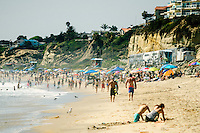 Busy Summer Day on the Beach in San Clemente