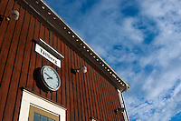Quater to eight at the station of Tällberg, Dalarna, Sweden, Europe