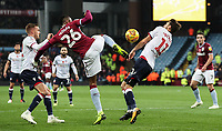 Bolton Wanderers' Will Buckley competing with Aston Villa's Jonathan Kodjia<br /> <br /> Photographer Andrew Kearns/CameraSport<br /> <br /> The EFL Sky Bet Championship - Aston Villa v Bolton Wanderers - Friday 2nd November 2018 - Villa Park - Birmingham<br /> <br /> World Copyright &copy; 2018 CameraSport. All rights reserved. 43 Linden Ave. Countesthorpe. Leicester. England. LE8 5PG - Tel: +44 (0) 116 277 4147 - admin@camerasport.com - www.camerasport.com