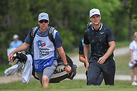 Lucas Bjerregaard (DEN) makes his way to the tee on 2 during day 2 of the Valero Texas Open, at the TPC San Antonio Oaks Course, San Antonio, Texas, USA. 4/5/2019.<br /> Picture: Golffile | Ken Murray<br /> <br /> <br /> All photo usage must carry mandatory copyright credit (&copy; Golffile | Ken Murray)