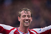 30th September, bet365 Stadium, Stoke-on-Trent, England; EPL Premier League football, Stoke City versus Southampton; A smiling Stoke City's Peter Crouch after scoring the winning goal