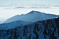 Tatra mountains looking west from near Zawrat pass, Poland