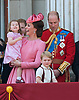 17.06.2017; London, UK: PRINCESS CHARLOTTE AND PRINCE GEORGE <br /> joined other members of the royal family for the Trooping The Colour to celebrate the Queen&rsquo;s 91st Official Birthday<br /> Royals present included the Duke of Edinburgh, Prince Charles and Camilla, Duchess of Cornwall, Prince William, Kate Middleton, Prince George; Princess Charlotte; Prince Harry, Prince Andrew; Princess Beatrice, Princess Eugenie, Prince Edward, Princess Anne, Zara Phillips &amp; Mike Tindal, Prince and Princess Michael Of Kent, Lady Helen Taylor, Duke of Kent, Duke of Gloucester and Duchess of Gloucester,Peter Phillips and Autumn and Lady Amelia Windsor.<br /> Mandatory Credit Photo: &copy;Francis Dias/NEWSPIX INTERNATIONAL<br /> <br /> IMMEDIATE CONFIRMATION OF USAGE REQUIRED:<br /> Newspix International, 31 Chinnery Hill, Bishop's Stortford, ENGLAND CM23 3PS<br /> Tel:+441279 324672  ; Fax: +441279656877<br /> Mobile:  07775681153<br /> e-mail: info@newspixinternational.co.uk<br /> Usage Implies Acceptance of OUr Terms &amp; Conditions<br /> Please refer to usage terms. All Fees Payable To Newspix International