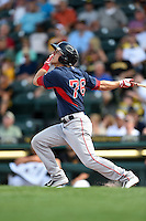 Boston Red Sox Blake Tekotte (76) during a Spring Training game against the Pittsburgh Pirates on March 12, 2015 at McKechnie Field in Bradenton, Florida.  Boston defeated Pittsburgh 5-1.  (Mike Janes/Four Seam Images)