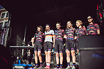 Canyon-Sram Racing at the Team presentation of La Fleche Wallonne Femmes 2018 running 118.5km from Huy to Huy, Belgium. 17/04/2018.<br /> Picture: ASO/Thomas Maheux | Cyclefile.<br /> <br /> All photos usage must carry mandatory copyright credit (&copy; Cyclefile | ASO/Thomas Maheux)