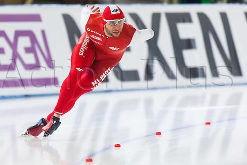 January 29th 2017, Sportforum, Berlin, Germany; ISU Speed Skating World Cup;  ISU Speed Skating World Cup  1000m Division B;  Konrad Niedzwiedzki (POL)