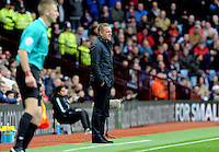 Manager Garry Monk of Swansea City during the Barclays Premier League match between Aston Villa v Swansea City played at the Villa Park Stadium, Birmingham on October 24th 2015