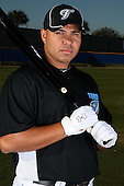 March 1, 2010:  Designated Hitter Randy Ruiz (21) of the Toronto Blue Jays poses for a photo during media day at Englebert Complex in Dunedin, FL.  Photo By Mike Janes/Four Seam Images