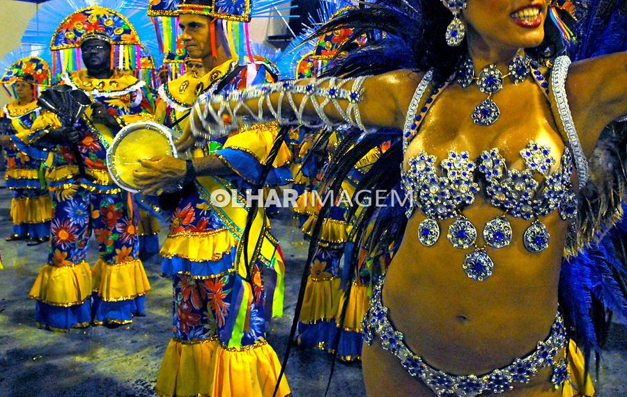 Desfile de carnaval no sambódromo. Rio de Janeiro. 2008. Foto de Luciana Whitaker