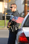 Pennsylvania College of Technology police officer at Flag Day Parade,Williamsport, PA