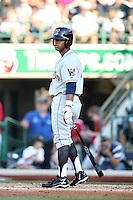 Wisconsin Timber Rattlers Khris Davis during the Midwest League All Star Game at Parkview Field in Fort Wayne, IN. June 22, 2010. Photo By Chris Proctor/Four Seam Images