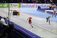 SCHAATSEN: HEERENVEEN: 25-10-2013, IJsstadion Thialf, NK afstanden, 1500m, Lotte van Beek, Linda de Vries, ©foto Martin de Jong