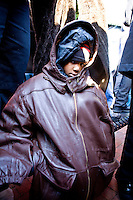 "Jayden Brock patiently waits in the cold for President-Elect Barack Obama and Vice President-Elect Joe Biden to arrive in Wilmington, Delaware, a stop on the ""Whistle Stop Tour"" of January 17th, 2009."