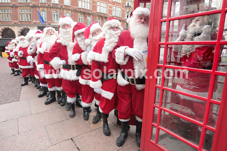 **ALL ROUND PICTURES FROM SOLARPIX.COM**.**NO UK NEWSPAPER PUBLICATION **UK MAGAZINE & SUPPLEMENT PUBLICATION ONLY** AND NO PUBLICATION IN FRANCE, SCANDINAVIA, AUSTRALIA AND GERMANY** .30 of the UK's best Santa students took to their seats this morning at the Odeon Cinema in Leicester Square, London, to be addressed by the real Santa in a new film entitled Santa School: The Film, as part of their training in the run up to Christmas. London, UK. 13th November 2008..JOB REF: 7876 SFE       DATE: 13_11_2008.**MUST CREDIT SOLARPIX.COM OR DOUBLE FEE WILL BE CHARGED* *UNDER NO CIRCUMSTANCES IS THIS IMAGE TO BE REPRODUCED FOR ANY ONLINE EDITION WITHOUT PRIOR PERMISSION*