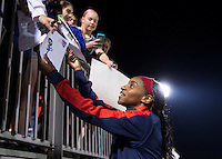 Boyds, MD - April 16, 2016: Washington Spirit forward Crystal Dunn (19). The Washington Spirit defeated the Boston Breakers 1-0 during their National Women's Soccer League (NWSL) match at the Maryland SoccerPlex.