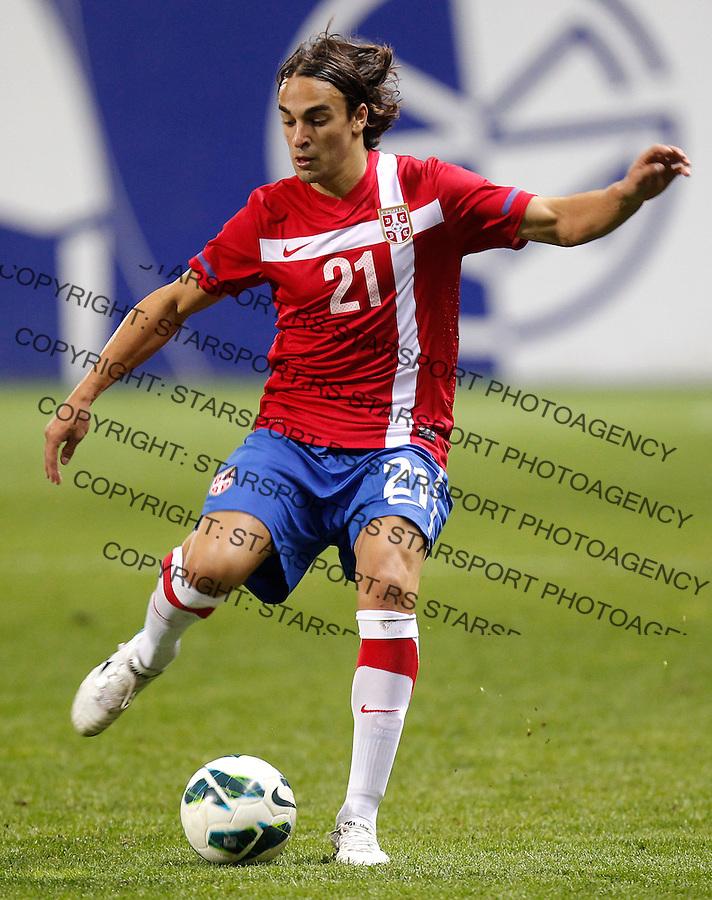 Fudbal Soccer U21<br /> Kvalifikacije za EVropsko Prvenstvo U21<br /> Srbija U21 v Italija U21<br /> Lazar Markovic <br /> Gornji Milanovac, 19.11.2013.<br /> foto: Srdjan Stevanovic/Starsportphoto &copy;