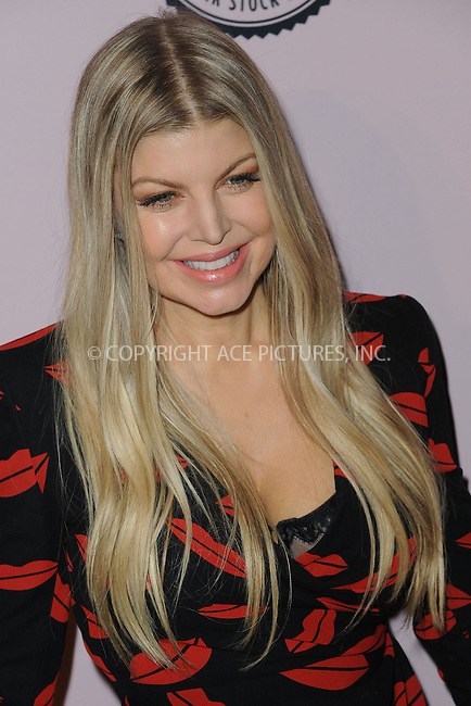 WWW.ACEPIXS.COM<br /> April 23, 2014 New York City<br /> <br /> Fergie attending the Brown Shoe Company celebration of 100 Years on the New York Stock Exchange at 4 World Trade Center in New York City on April 23, 2014.<br /> <br /> By Line: Kristin Callahan/ACE Pictures<br /> ACE Pictures, Inc.<br /> tel: 646 769 0430<br /> Email: info@acepixs.com<br /> www.acepixs.com