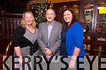 Samantha Sugrue, John Healy and Mairead Gallagher  enjoying the Recovery Haven Christmas Party at the Meadowlands Hotel on Thursday