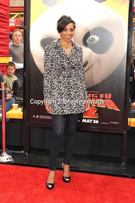 "HOLLYWOOD, {CA} -MAY 22: Shaun Robinson arrives at the Los Angeles premiere of ""Kung Fu Panda 2"" held at Grauman's Chinese Theatre on May 22, 2011 in Hollywood, California."