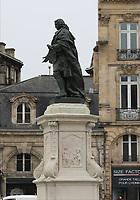 General view of a monument to Louis-Urbain-Aubert de Tourny, Place de Tourny, Bordeaux, Nouvelle-Aquitaine, France on 16.10.19.