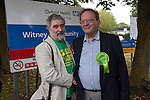 Oxford Green Cllr David Williams helps   Larry Sanders, Brother of Senator Bernie Sanders,  to  launch <br /> his campaigh to stand as Green Party MP candidate for Witney,  following David Cameron standing down from his Witney seat.