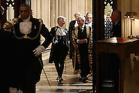 18 May 2016 - London England - Black Rod Lt Gen David Leakey and Speaker John Bercow share a joke as they process into the House of Lords ahead of the Queen's Speech at the State Opening of Parliament in the Houses of Parliament on May 18, 2016 in London. The State Opening of Parliament marks the formal start of the parliamentary year and the Queen's Speech sets out the government's agenda for the coming session. Photo Credit: ALPR/AdMedia
